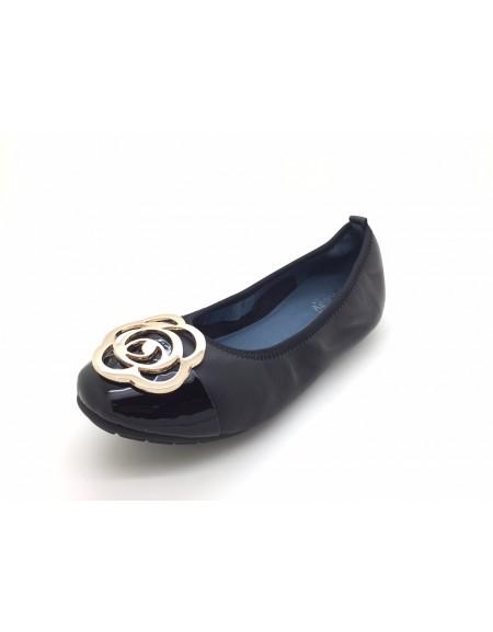 790eb228c941 twelve15twenty DOLLY Rose Gold Lambskin Leather Ballerina Flats ...
