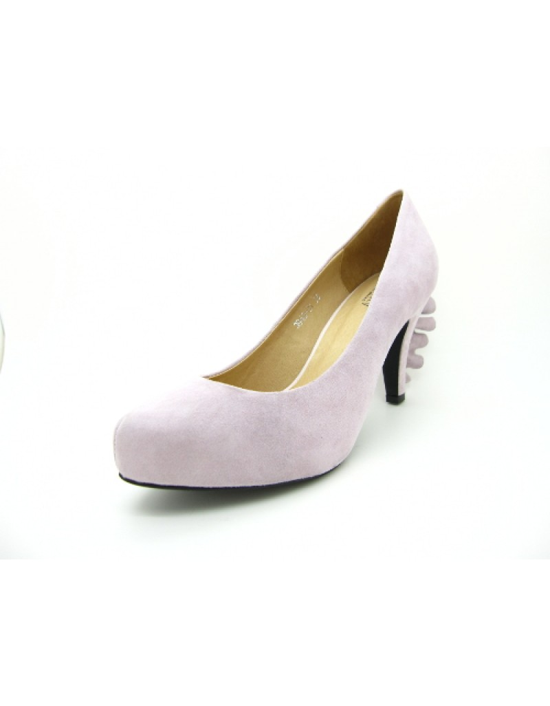 7af5073aff7 FRILLS Light Purple Suede Leather Platform Heels