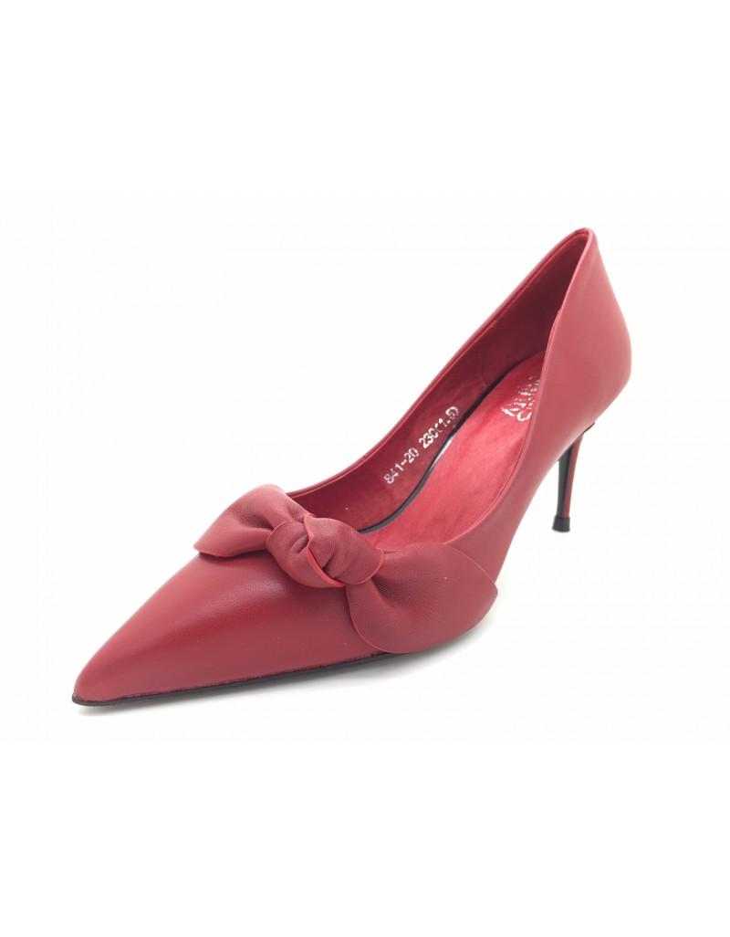 4b07f27fd2 twelve15twenty MACY Red Cowhide Leather Ribbon Stiletto Heels women shoes