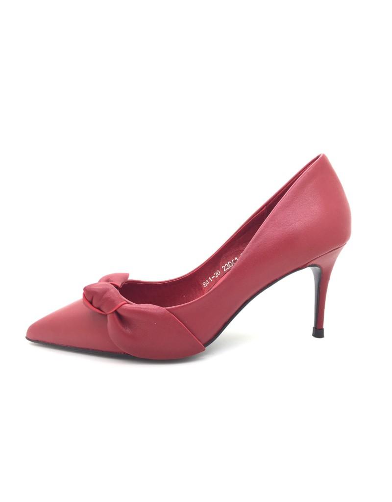 db00a86a46 twelve15twenty MACY Red Cowhide Leather Ribbon Stiletto Heels women ...